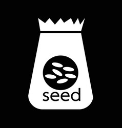 Paper bag seed icon design vector