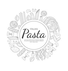 Pasta banner template traditional italian cuisine vector