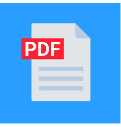 Pdf file icon format download document image vector