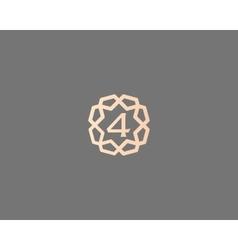 Premium number 4 logo icon design luxury vector