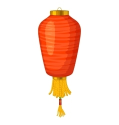 Red chinese paper lantern icon in cartoon style vector image