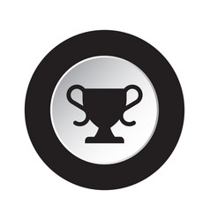 Round black and white button - sports cup icon vector