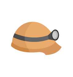 safety helmet flashlight graphic vector image