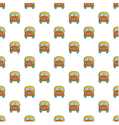 Schoolbus pattern seamless vector