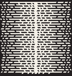Seamless irregular lines halftone black and white vector