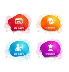 Security website statistics and discount tags vector