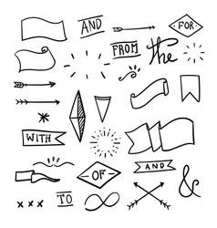 set decorative calligraphic elements vector image