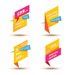 set of modern sale stickers badge for online vector image