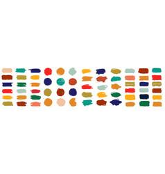 Splash banners set colorful paint stroke vector