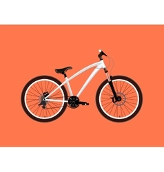 Sport white Bicycle vector image