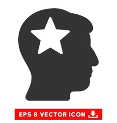 Star Head Eps Icon vector image