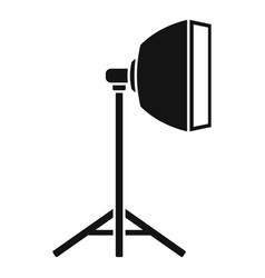 Studio light stand icon simple style vector