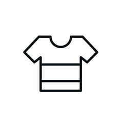 t-shirt fashion clothes shopping line style vector image
