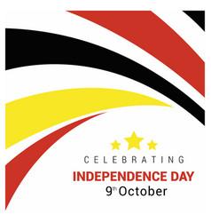 Uganda independence day design vector