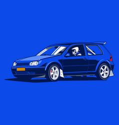 Vintage car 05 vector