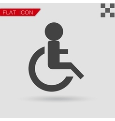 Wheelchair Handicap Icon Flat Style with red vector image