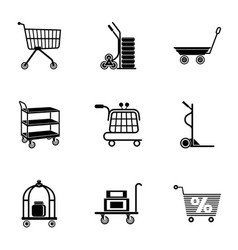 Wholesale icons set simple style vector