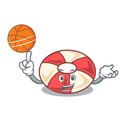 With basketball swim tube character cartoon vector