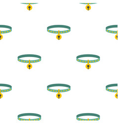 cat collar pattern seamless vector image vector image