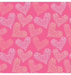 heart ornament seamless 380 vector image vector image