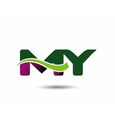 Letter m and y monogram logo vector