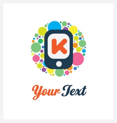 Mobile logo template vector image vector image