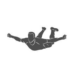soccer player celebrating vector image