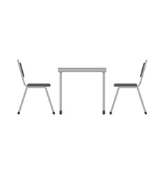 table and chair restaurant furniture side view vector image vector image