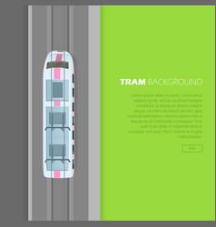 tram background conceptual flat web banner vector image
