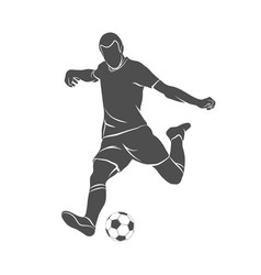 ball soccer player vector image vector image