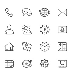 Main Icons for Mobile Phone and Application vector image vector image