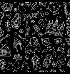 russia seamless pattern for your design vector image vector image