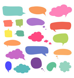 set of blank colorful speech bubbles and balloons vector image