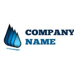 Water drop creative idea logo design blue template vector image