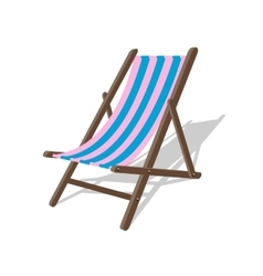 wood beach rest chair Relax outdoor vector image