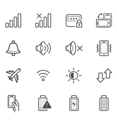 Notification Icons for Mobile Phone vector image vector image