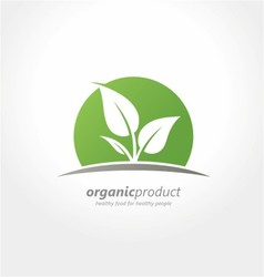 organic product logo healthy food organic farm vector image vector image