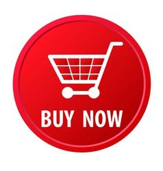 Shopping basket button vector image vector image