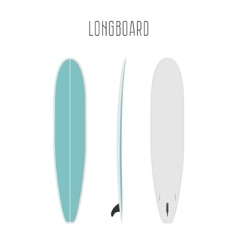 surf long board with three sides vector image