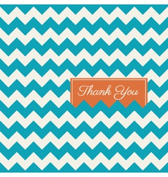 thank you card chevron background vector image
