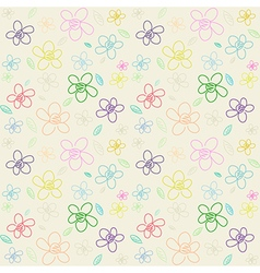 Flower Pattern Color 01 vector image