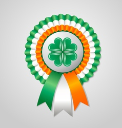 Saint Patricks Day Irish rosette vector image