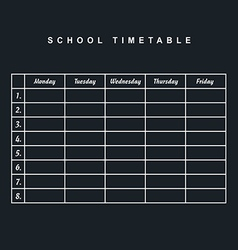 school timetable icon illstration part two on vector image vector image