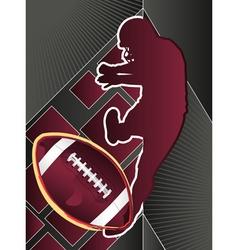 sport poster series football vector image