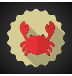 Summer Travel Sea Crab flat icon vector image