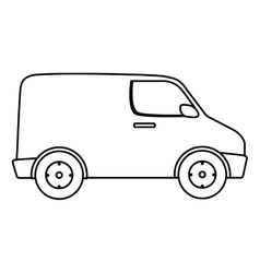 van delivery vehicle isolated icon vector image