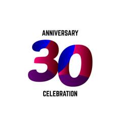 30 year anniversary celebration logo template vector