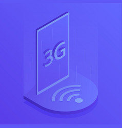 3g wireless internet wifi connection vector image