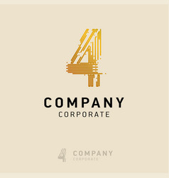 4 company logo design with white background vector image