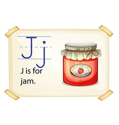 A letter J for jam vector image